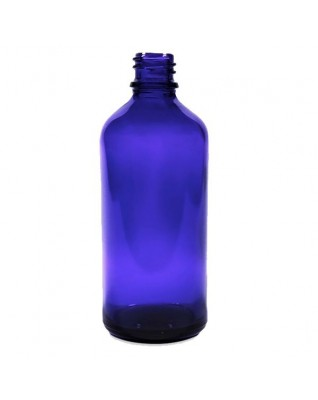 Cobalt Blue Glass Bottle 100ml, Din18