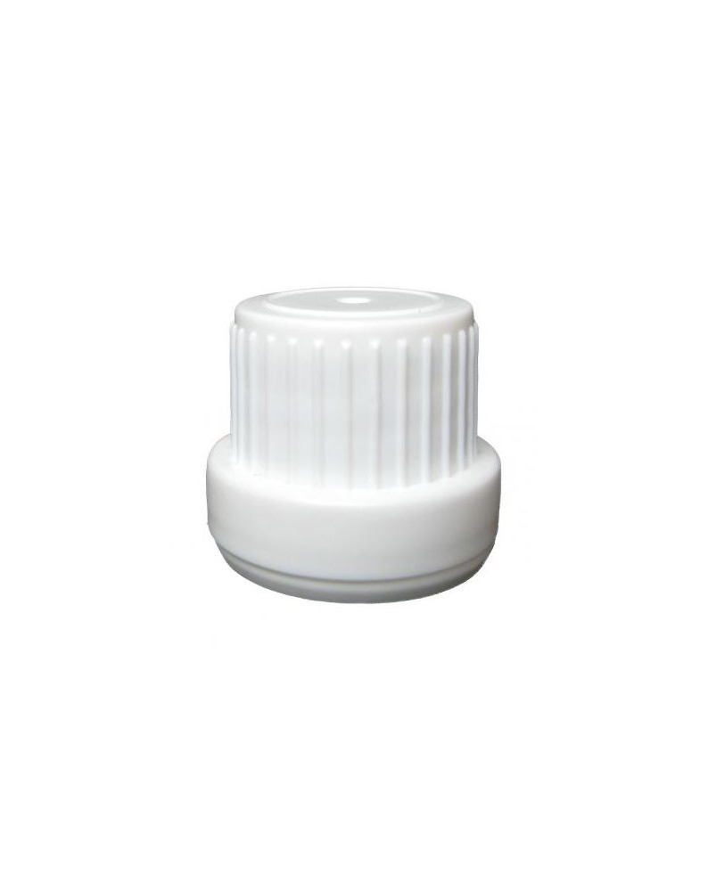 Big White Screw Cap with Safety Ring, for Essential Oil Bottles, Din18