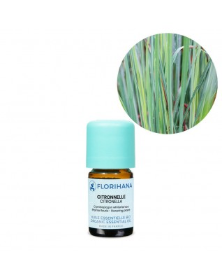 Citronella Essential Oil BIO (Cymbopogon Winterianus) - FLE025